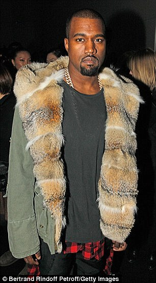 For the bros: Speaking of fur collars, gentlemen might be more into the Ermanno Scervino winter coat that both the 38-year-old rapper and Scott Disick once shared (pictured in 2013 and 2014)