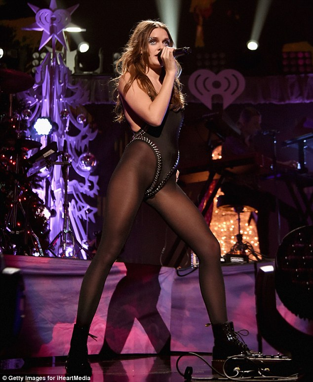 Sing it! Tove Lo donned a studded black leotard and leggings as she took the stage