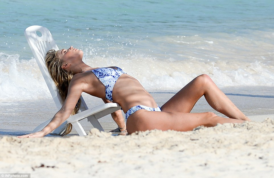 Laying out: All this hard work delightfully tied in with some sunbathing, even so