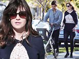 Los Angeles, CA - Just a few months ago, actress Zooey Deschanel and her husband, producer Jacob Pechenik, welcomed a baby girl Elsie Otter Pechenik, today, the proud couple enjoyed a walk with their bundle of joy as they made their way back form the Temple in L.A.\nAKM-GSI       December 12, 2015\nTo License These Photos, Please Contact :\nSteve Ginsburg\n(310) 505-8447\n(323) 423-9397\nsteve@akmgsi.com\nsales@akmgsi.com\nor\nMaria Buda\n(917) 242-1505\nmbuda@akmgsi.com\nginsburgspalyinc@gmail.com