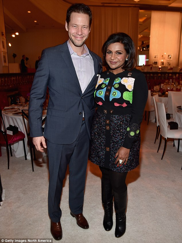 All smiles: Ike plays nurse Morgan Tookers on The Mindy Project, starring alongside Mindy Kaling and Chris Messina; pictured with Mindy on December 4 at the March of Dimes luncheon in Beverly Hills