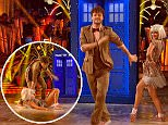 ****Ruckas Videograbs****  (01322) 861777\n*IMPORTANT* Please credit the BBC for this picture.\n12/12/15\nStrictly Come Dancing - BBC One\nWEEK 12\nGrabs from tonight's semi-final show\nOffice  (UK)  : 01322 861777\nMobile (UK)  : 07742 164 106\n**IMPORTANT - PLEASE READ** The video grabs supplied by Ruckas Pictures always remain the copyright of the programme makers, we provide a service to purely capture and supply the images to the client, securing the copyright of the images will always remain the responsibility of the publisher at all times.\nStandard terms, conditions & minimum fees apply to our videograbs unless varied by agreement prior to publication.
