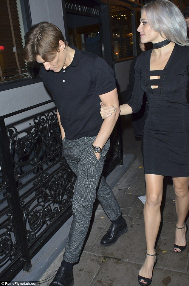 Date night: Also seen at the venue that night was Pixie Lott and boyfriend Oliver Cheshire though they did not appear to witness the event