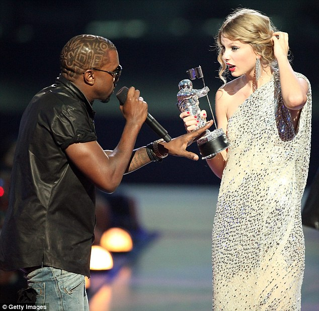 Supersized ego: At the 2009 Video Music Awards, Kanye West stormed onto stage, took the microphone out of winner Taylor Swift's hands and told her she didn't deserve the prize