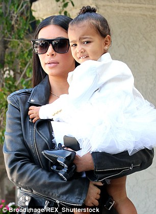 Trend-setter: North 'Nori' West with her mother