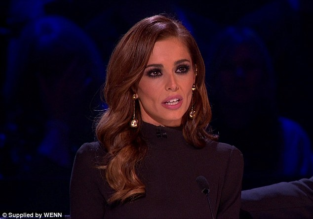 Tearful: Last week, Mrs Fernandez-Versini, 32, broke down in tears on the live X Factor episode during a performance of Love Is A Losing Game. Afterwards, the judge said: 'That really struck a chord with me'