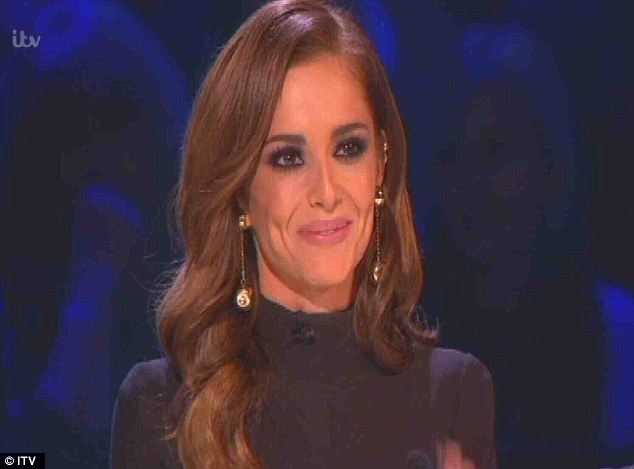 Heavy heart: Mrs Fernandez-Versini is pictured at last Saturday's X Factor semi-final, when she broke down