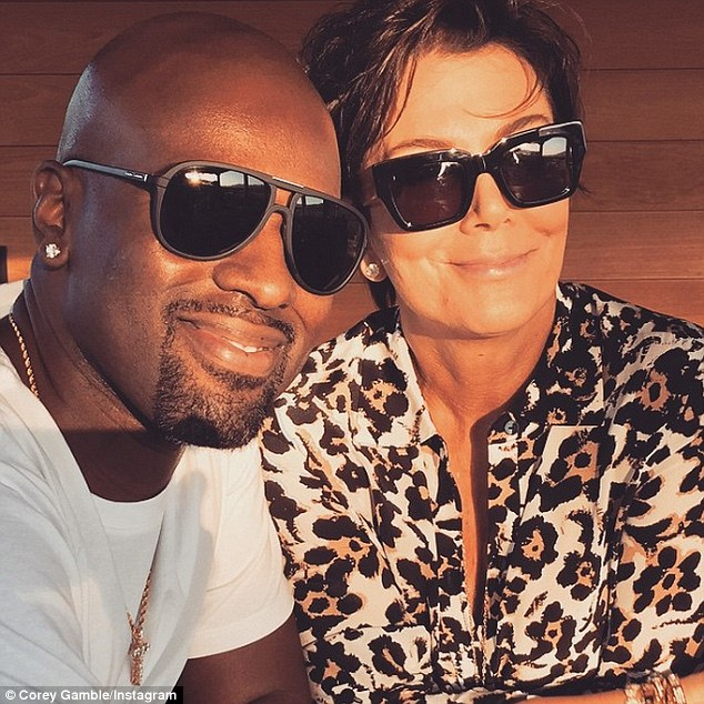 Inseparable: At 35, the goateed toyboy is 25 years younger than their momager Kris Jenner, whom he's been romancing for the last 16 months
