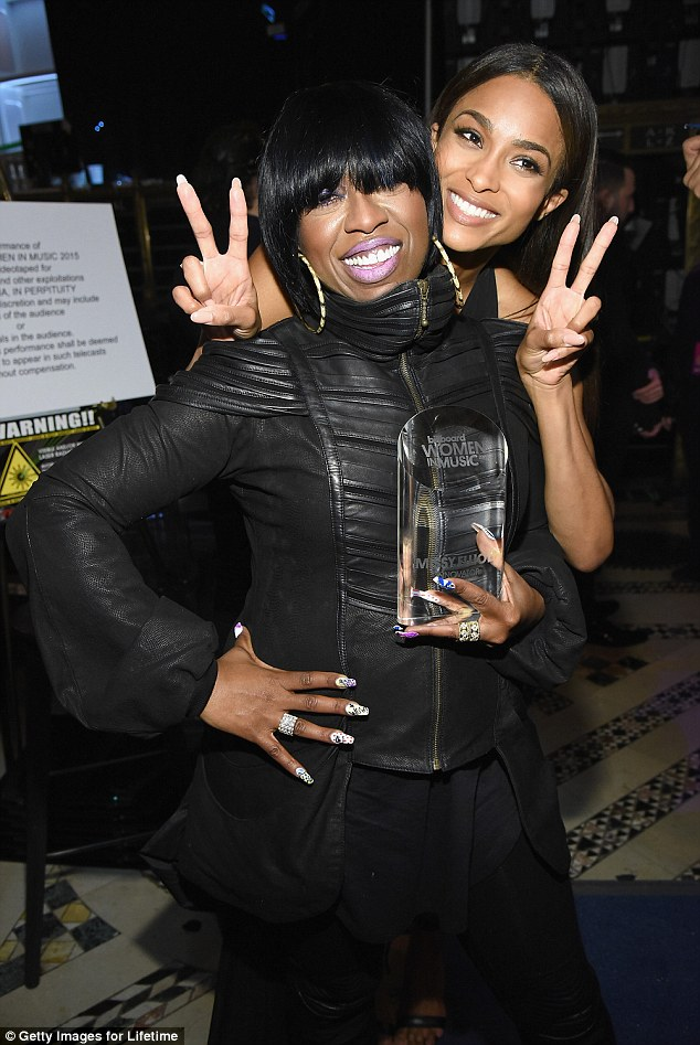 Fan fave: The hip-hop star delivered an emotional six minute long speech, met with a standing ovation, the loudest of the night, after Ciara presented her award