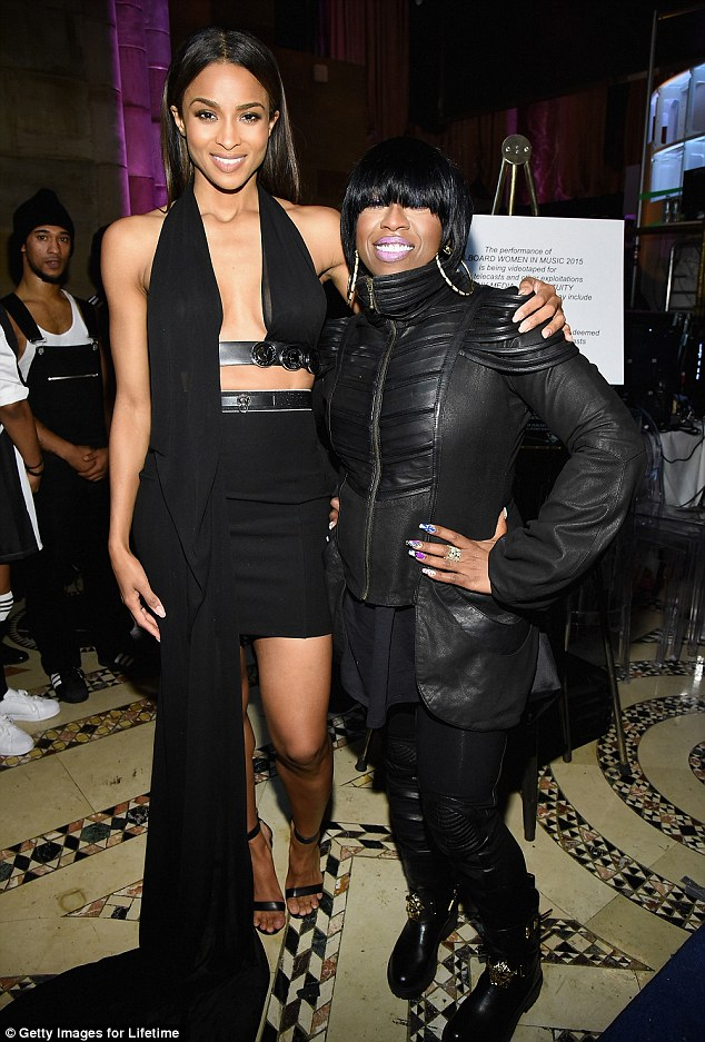 Shout outs: She thanked Pharrell Williams, Timbaland, Janet Jackson and her late friend Aaliyah, who died in 2001