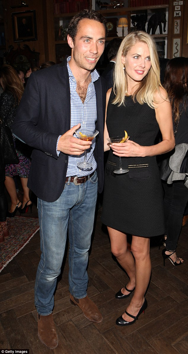 James and Donna attend the Johnnie Walker Blue Label Summer Party at Mr Fogg's of Mayfair in June 2013