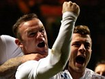 GLASGOW, SCOTLAND - NOVEMBER 18:  Wayne Rooney of England celebrates after scoring his team's second goal during the International Friendly match between Scotland and England at Celtic Park Stadium on November 18, 2014 in Glasgow, Scotland.  (Photo by Alex Livesey/Getty Images)