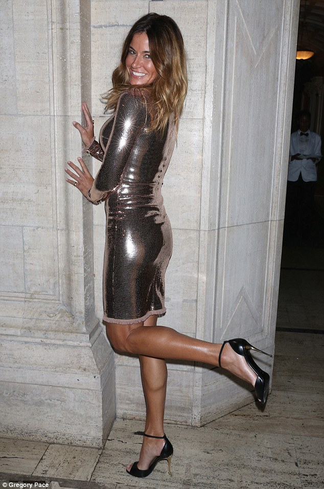Check me out: Real Housewives of New York City star Kelly Bensimon hammed it up for photographer