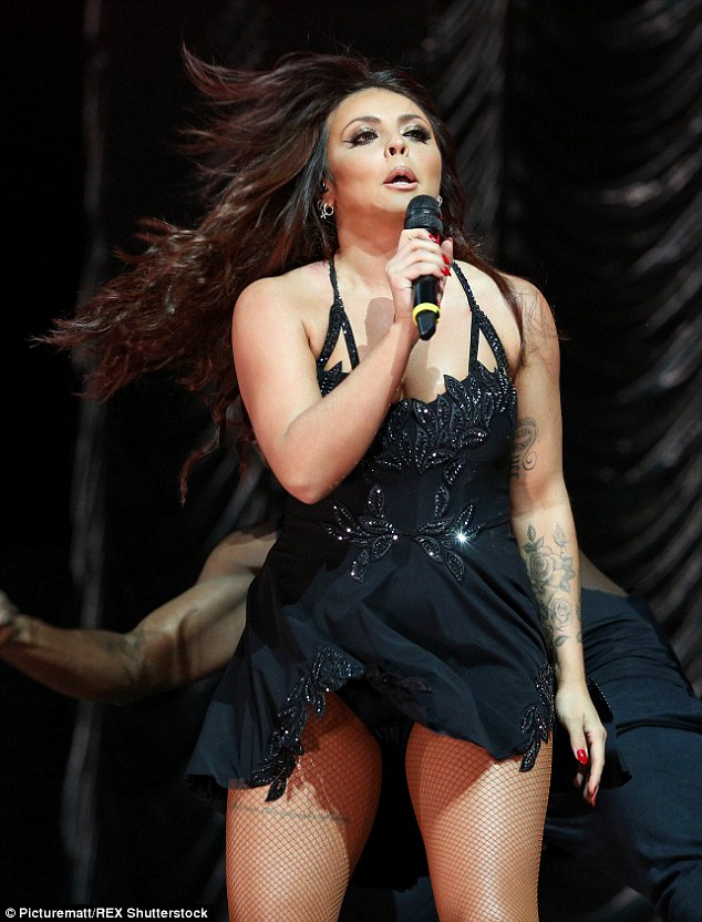 Vocal powerhouse: Jesy sung her heart out on stage as she performed some of the band's tracks