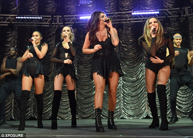Musical talent: The girls took to the mics to showcase their impressive vocal ability