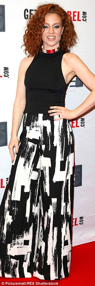 Monochrome: Jess Glynne looked great on the red carpet