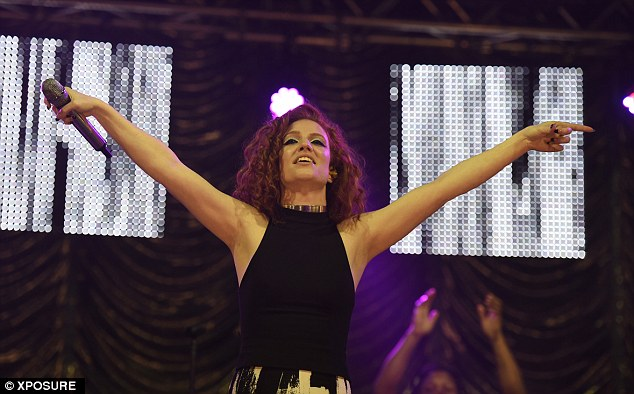 For the fans: The Home hit-maker looked to be having a brilliant time as she performed on-stage