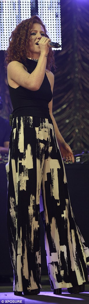 Fashion risk: She donned a pair of artistic trousers