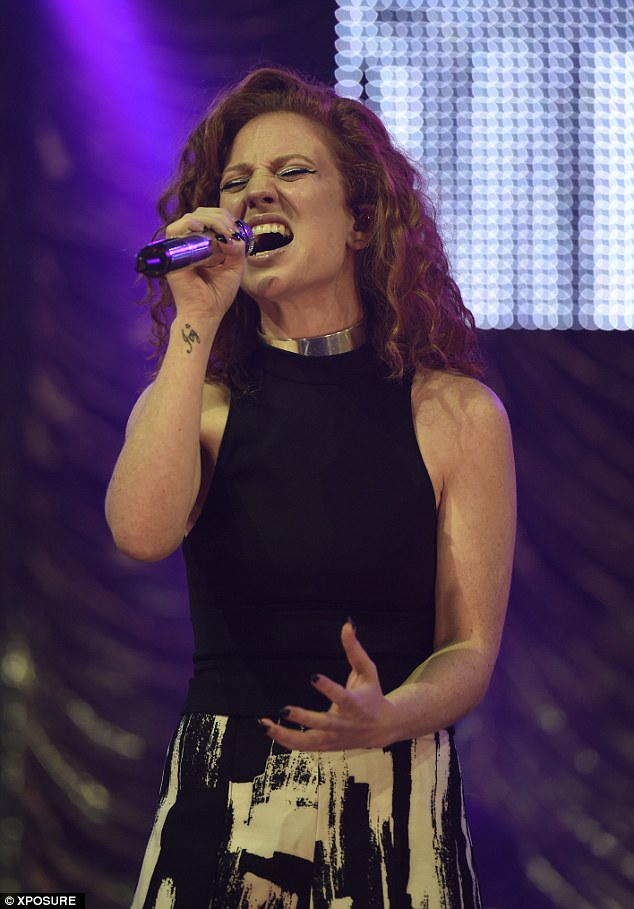British talent: Jess sung her heart out on stage as she performed some of her biggest hits