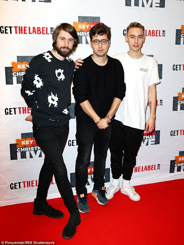 Laid-back: Band Years and Years showcased their differing styles on the red carpet