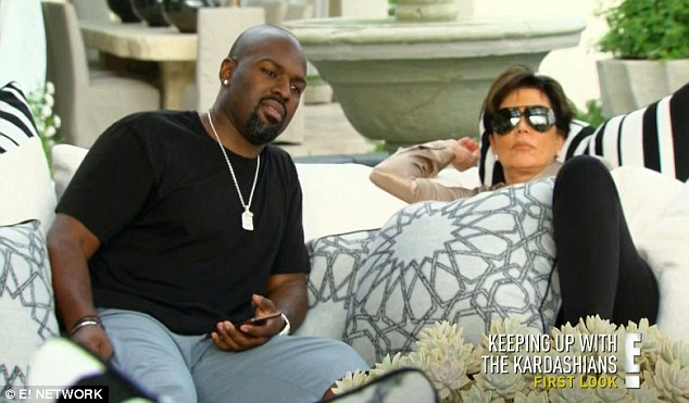 Kicking back: Kris relaxed with Corey while Khloe shared her get away plans
