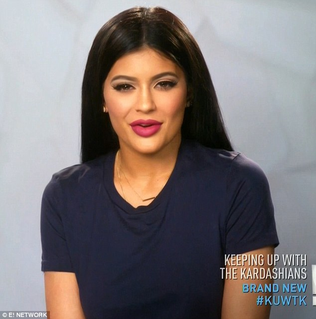 Grown up: Kylie noted that she was 18 and grown up