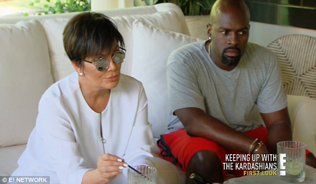 Expecting? Kris joked in October about literally 'having too much sex' with boyfriend Corey Gamble (right)