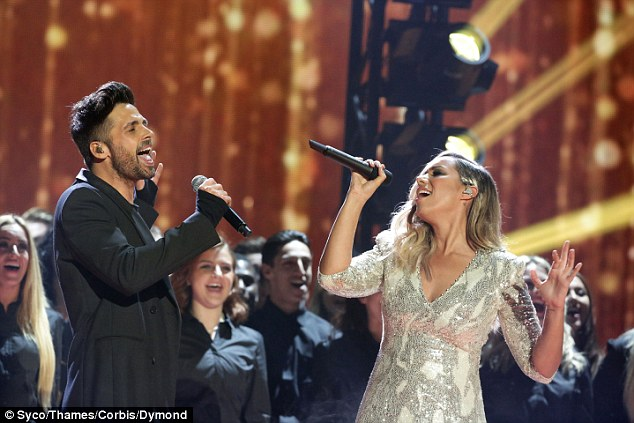 Former winners: The previous X Factor winners both gave a dramatic performance, although there was little chemistry between the pair