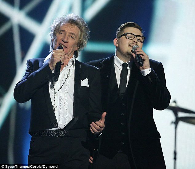 Boy power! Singing legend Rod Stewart added some credibility to the show's proceedings