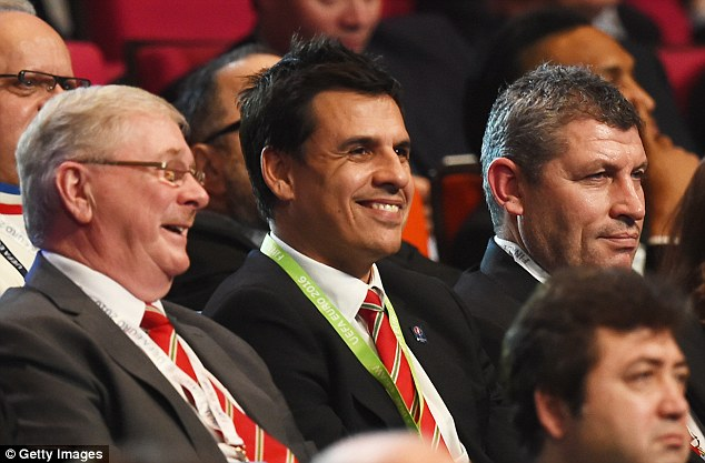 Wales manager Chris Coleman smiles during the Euro 2016 draw at Palais des Congres in Paris