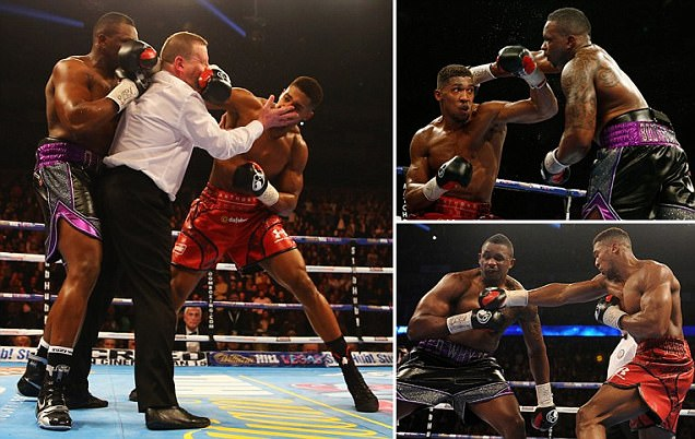 Anthony Joshua knocks Dillian Whyte out in seventh round after tough test at O2 Arena