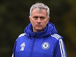 Chelsea FC via Press Association Images MINIMUM FEE 40GBP PER IMAGE - CONTACT PRESS ASSOCIATION IMAGES FOR FURTHER INFORMATION. Chelsea's Chris Jones, Jose Mourinho during a training session at the Cobham Training Ground on 11th December 2015 in Cobham, England.