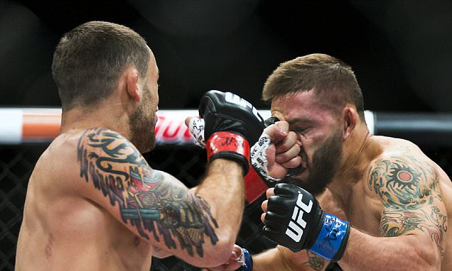 Frankie Edgar beats Chad Mendes with stunning stoppage in first round to put himself back