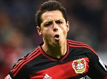Leverkusen's Mexican striker Javier Hernandez celebrates after scoring his team's second goal during the German first division Bundesliga football match Bayer 04 Leverkusen vs Borussia Moenchengladbach in Leverkusen, western Germany, on December 12, 2015. AFP PHOTO / PATRIK STOLLARZ RESTRICTIONS: DURING MATCH TIME: DFL RULES TO LIMIT THE ONLINE USAGE TO 15 PICTURES PER MATCH AND FORBID IMAGE SEQUENCES TO SIMULATE VIDEO. == RESTRICTED TO EDITORIAL USE == FOR FURTHER QUERIES PLEASE CONTACT DFL DIRECTLY AT + 49 69 650050.PATRIK STOLLARZ/AFP/Getty Images