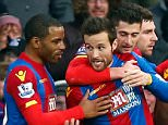 LONDON, ENGLAND - DECEMBER 12:  Yohan Cabaye (C) of Crystal Palace celebrates scoring his team's first goal with his team mates during the Barclays Premier League match between Crystal Palace and Southampton at Selhurst Park on December 12, 2015 in London, United Kingdom.  (Photo by Clive Rose/Getty Images)