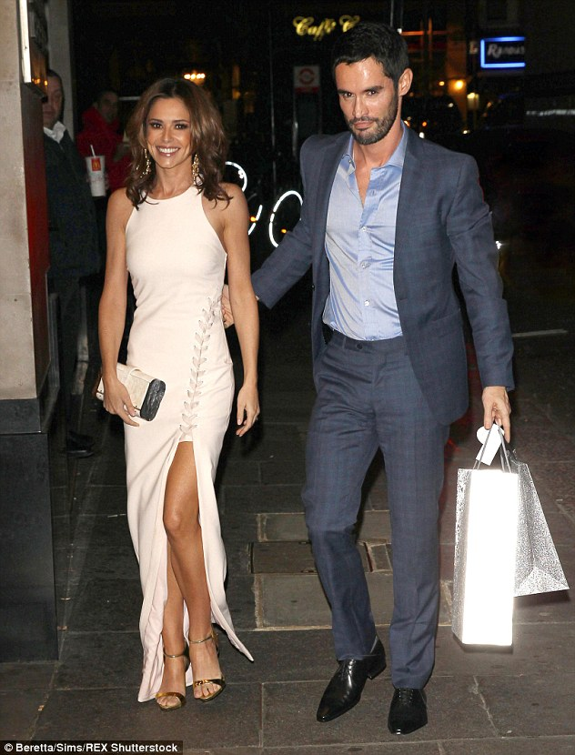 Under strain? Cheryl is battling mounting speculation that her marriage to Jean-Bernard is on the rocks. Above, the couple are pictured together at Ant and Dec's 40th birthday party on October 15