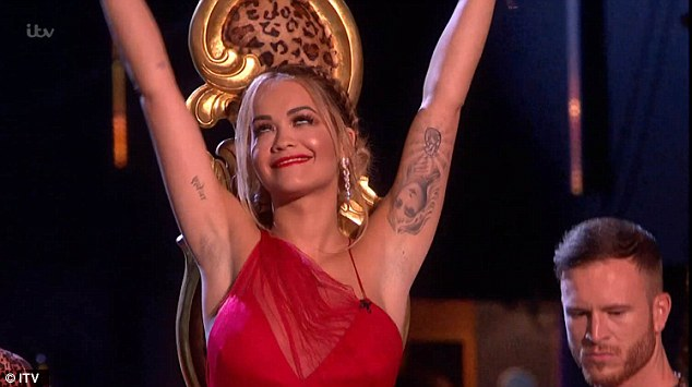 Not to be outdone:While Cheryl wowed in her red gown on Saturday night, there was the usual rivalry for the style crown from fellow judge Rita Ora