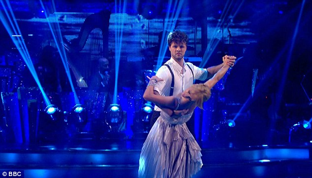 Romantic dance: For their first dance, The Wanted singer Jay and his partner Aliona Vilani, who performed the Viennese Waltz