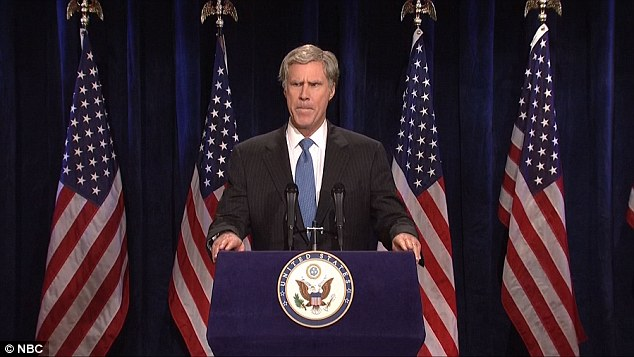 Ferrell cool cat: SNL alumnus Will was back to do his well-worn George W Bush routine