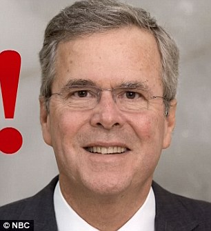 Uncanny: The family resemblance between Will's George and Jeb Bush was clear to see