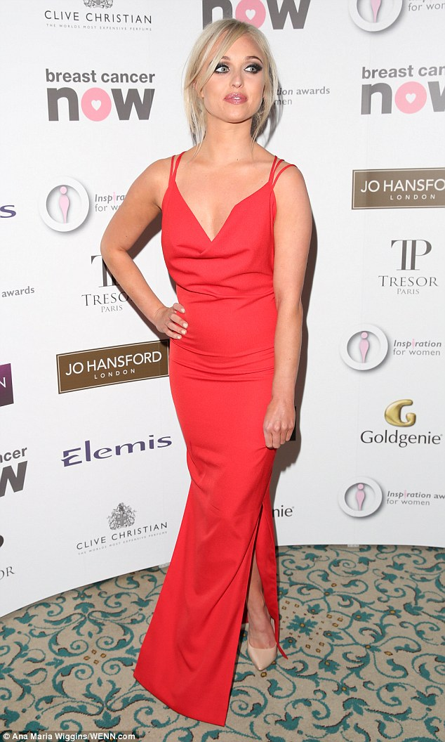 Red carpet return! Actress Jorgie Porter, 27, was back on the red carpet on Saturday night at The Inspiration Awards for Women 2015 held at the Landmark Hotel in London, after coming joint fourth in I'm A Celebrity