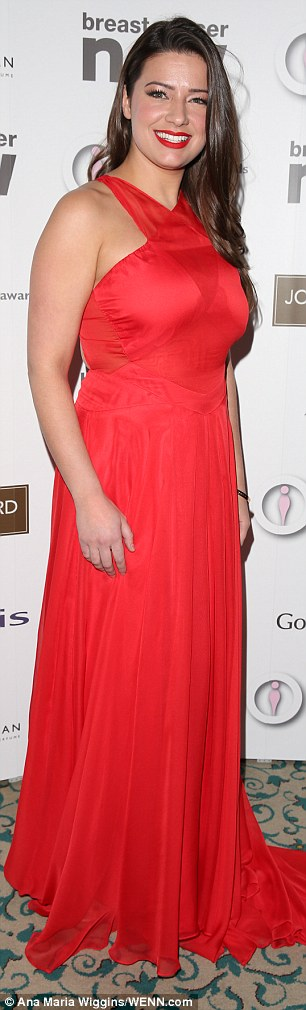 Red-hot: Belinda Stewart-Wilson opted for a brighter hue