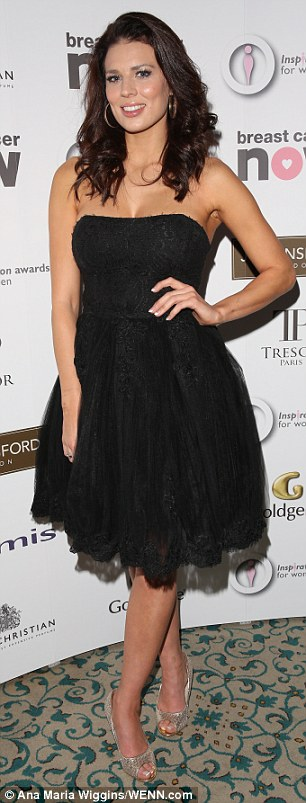 LBD:Twinnie Lee Moore donned a prom-style frock with peep-toe heels