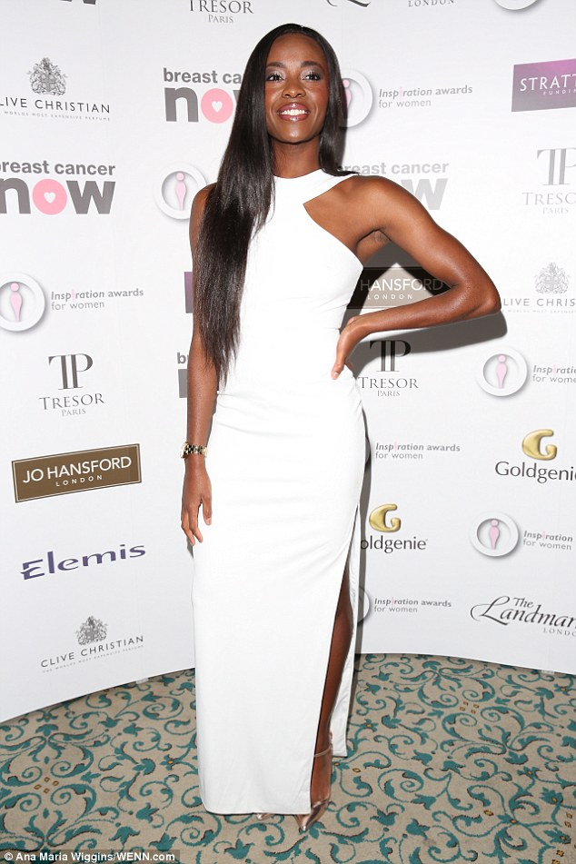 Minimalist:AJ Odudu's halterneck frock turned heads on the red carpet for all the right reasons