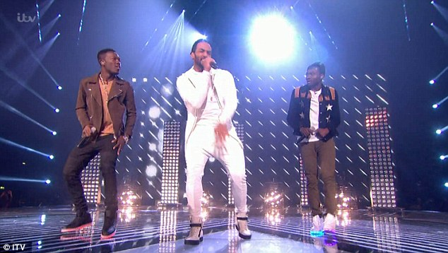 Trio: Reggie N Bollie then took to the stage with a handsome Craig David, who made an eagerly-awaited UK stage return after several years in LA
