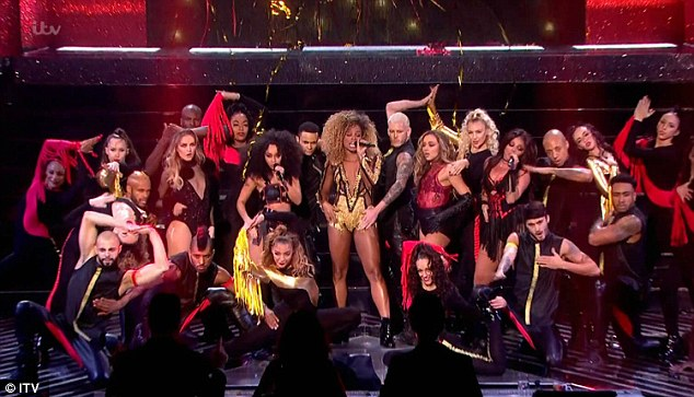That's a lot of leg! Fleur East and Little Mix teamed up for a bold performance of 'Black Magic' and 'Sax'