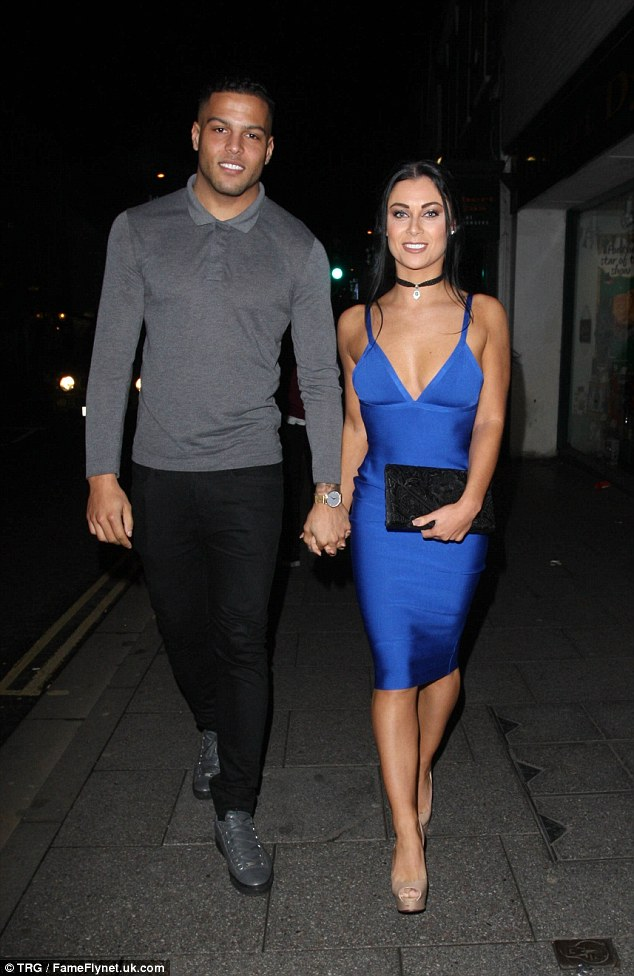 Loved-up: In yet another reality show addition to the evening, Cally Jane Beech and Luis Morrison of Love Island fame joined the party