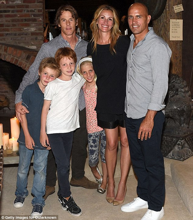 Julia recently described husband Daniel, whom she met on the set of The Mexican in 2000, as 'the safest place I know in the world'. They have three children, twins Phinnaeus and Hazel, 11, and Henry, eight