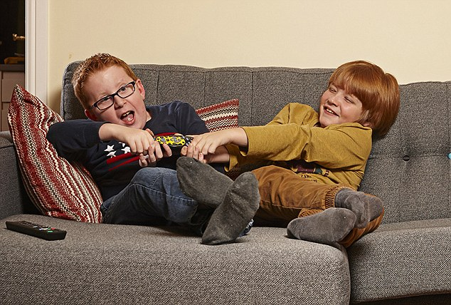 Aspiring accountant Jacob (left) and his friend Connor (right) are both 10 and live in Yorkshire