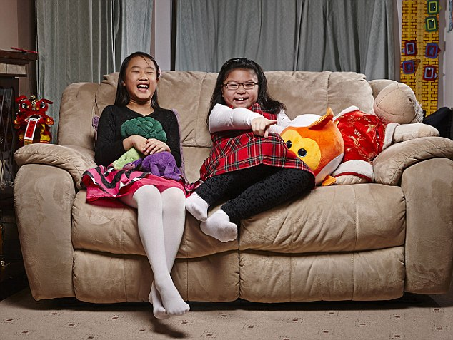 Stephanie and Christina, both eight, don't watch a lot of television because they are busy with other things